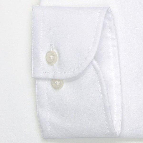 ワイシャツ メンズ 長袖 形態安定 形状記憶 綿100% 標準型 軽井沢シャツ ワイドスプレッド P12KZW211|plateau-web|05