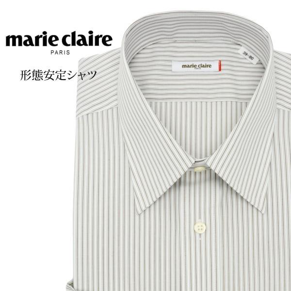 ワイシャツ メンズ 長袖 形態安定 形状記憶 標準型 marieclaire レギュラーカラー P12MCR213 plateau-web