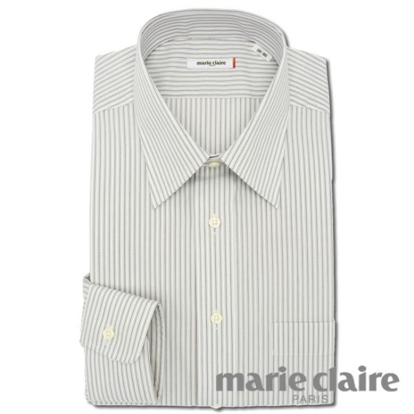 ワイシャツ メンズ 長袖 形態安定 形状記憶 標準型 marieclaire レギュラーカラー P12MCR213 plateau-web 02