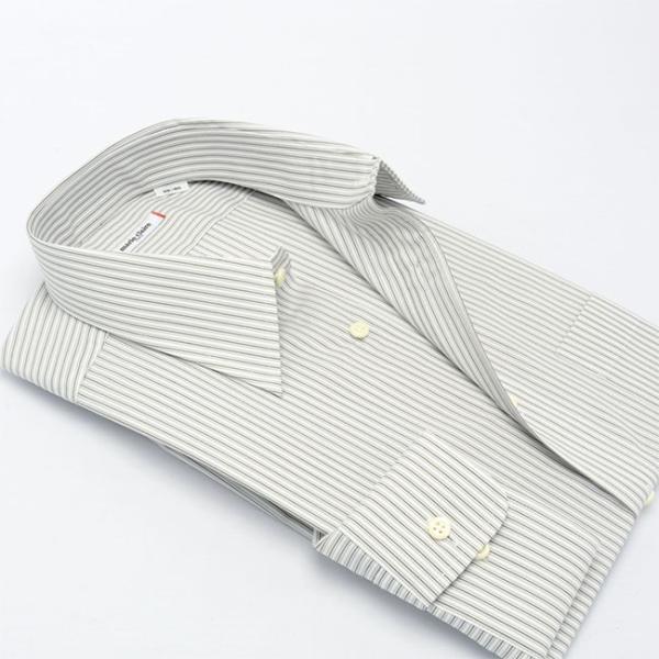 ワイシャツ メンズ 長袖 形態安定 形状記憶 標準型 marieclaire レギュラーカラー P12MCR213 plateau-web 03