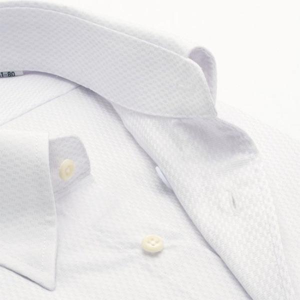 ワイシャツ メンズ 長袖 形態安定 形状記憶 標準型 marieclaire スナップダウン P12MCZD02|plateau-web|04