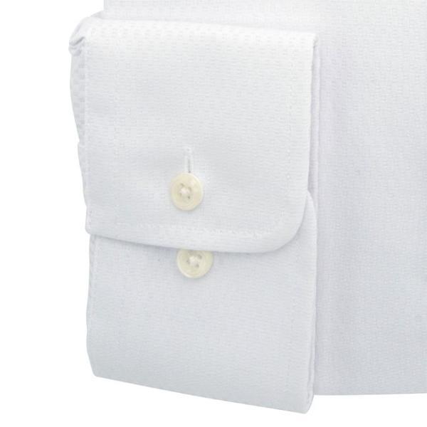 ワイシャツ メンズ 長袖 形態安定 形状記憶 標準型 marieclaire スナップダウン P12MCZD02|plateau-web|05