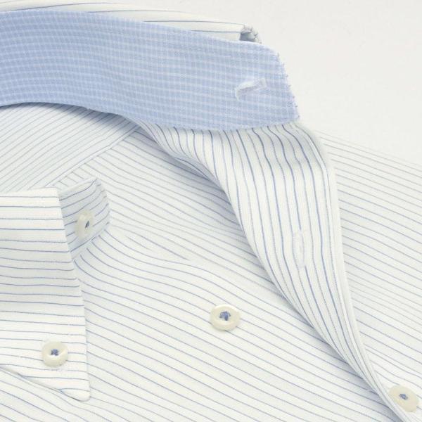 ワイシャツ メンズ 長袖 形態安定 形状記憶 標準型 TECHNOWAVE ボタンダウン P12TWB242|plateau-web|04