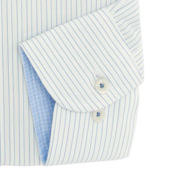 ワイシャツ メンズ 長袖 形態安定 形状記憶 標準型 TECHNOWAVE ボタンダウン P12TWB242|plateau-web|05