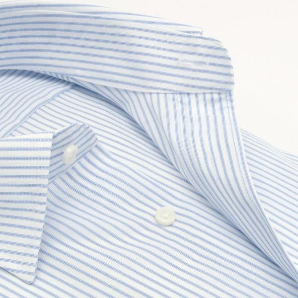 ワイシャツ メンズ 半袖 形態安定 形状記憶 標準型 BLUERIVER ワイドスプレッド P16BRW217 plateau-web 04