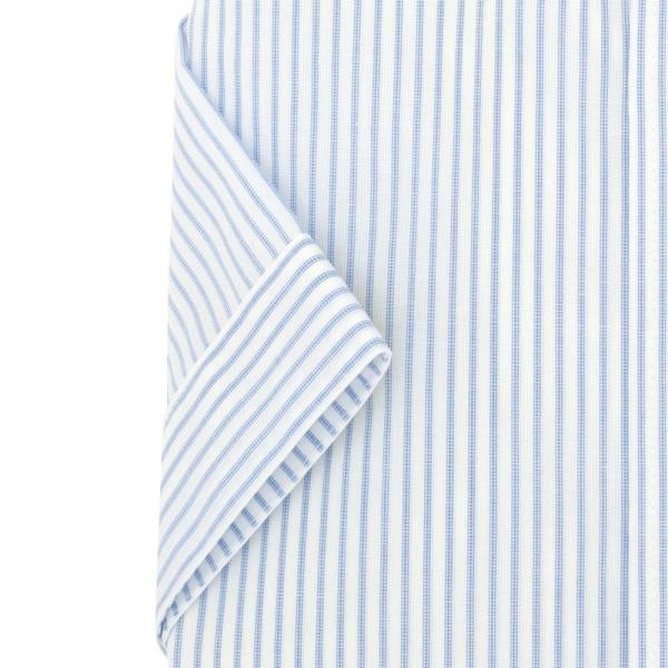 ワイシャツ メンズ 半袖 形態安定 形状記憶 標準型 BLUERIVER ワイドスプレッド P16BRW217 plateau-web 05