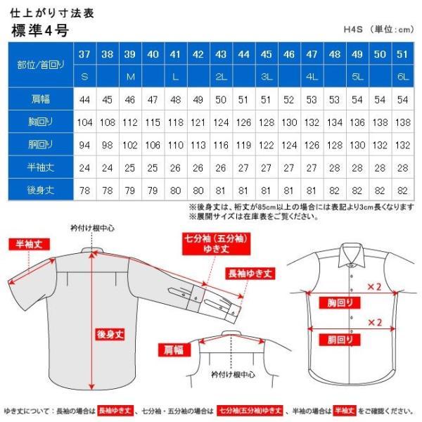 ワイシャツ メンズ 半袖 形態安定 形状記憶 標準型 BLUERIVER ワイドスプレッド P16BRW217 plateau-web 07