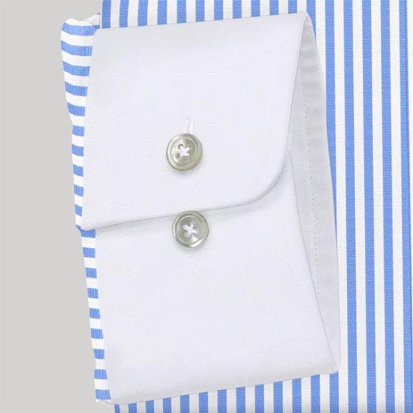 ワイシャツ Yシャツ メンズ長袖・半袖 ラウンドカラー 大丸 クレリック ライトブルーロンスト  軽井沢シャツ Y10KZC213|plateau-web|05