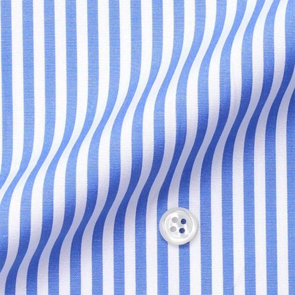 ワイシャツ Yシャツ メンズ長袖・半袖 ラウンドカラー 大丸 クレリック ライトブルーロンスト  軽井沢シャツ Y10KZC213|plateau-web|06