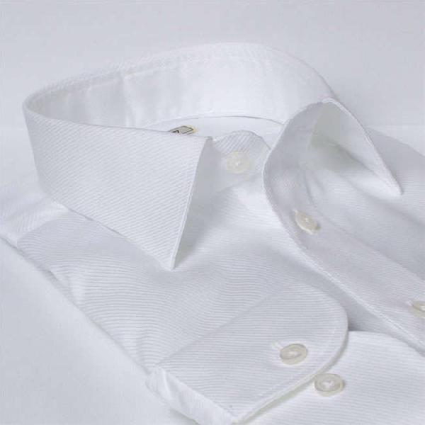 ワイシャツ Yシャツ メンズ長袖・半袖 レギュラーカラー ショートポイント 形態安定 軽井沢シャツ Y10KZR007|plateau-web|03