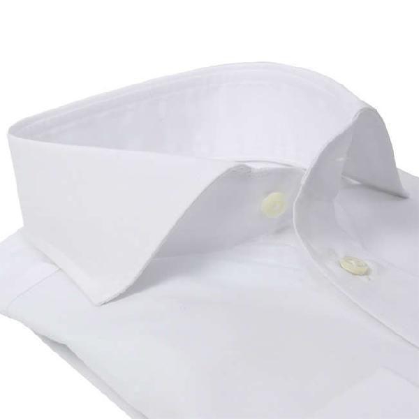 ワイシャツ Yシャツ メンズ らくらくオーダー 形態安定 軽井沢シャツ ワイドスプレッド Y10KZW002|plateau-web|03