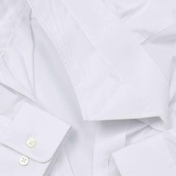 ワイシャツ Yシャツ メンズ らくらくオーダー 形態安定 軽井沢シャツ ワイドスプレッド Y10KZW002|plateau-web|05