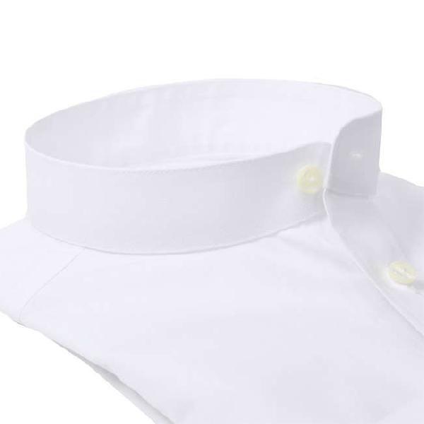 ワイシャツ Yシャツ メンズ らくらくオーダー 形態安定 軽井沢シャツ スタンドカラー Y10KZZS02|plateau-web|03