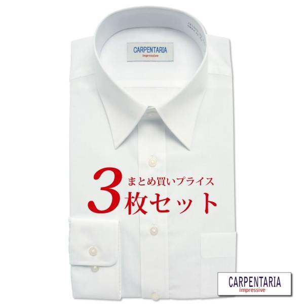 ワイシャツ メンズ 長袖 形態安定 形状記憶 標準型 CARPENTARIA レギュラーカラー Y12S3R101|plateau-web|02