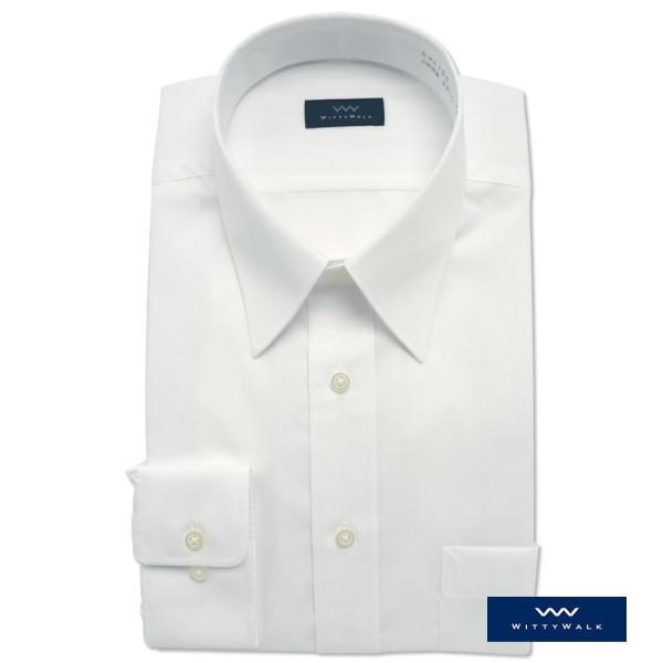 ワイシャツ メンズ 長袖 白 形態安定 形状記憶 防汚加工 Yシャツ 就活 冠婚葬祭 大きいサイズ レギュラーカラーY12WWR200|plateau-web|02