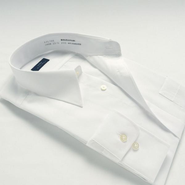 ワイシャツ メンズ 長袖 白 形態安定 形状記憶 防汚加工 Yシャツ 就活 冠婚葬祭 大きいサイズ レギュラーカラーY12WWR200|plateau-web|03