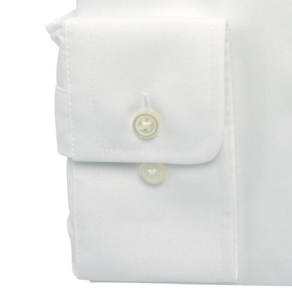 ワイシャツ メンズ 長袖 白 形態安定 形状記憶 防汚加工 Yシャツ 就活 冠婚葬祭 大きいサイズ レギュラーカラーY12WWR200|plateau-web|05