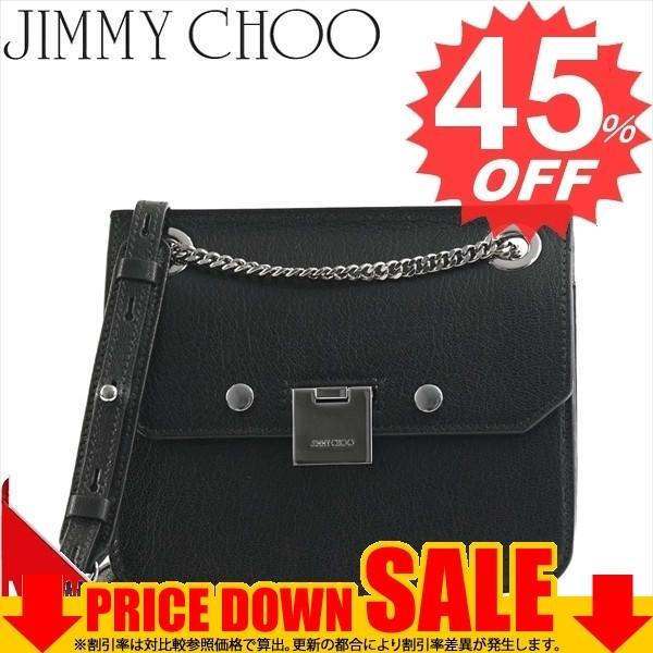 ジミーチュー 斜め掛けバッグ JIMMY CHOO  REBEL/XB   BLACK/GUNMETAL GRZ SOFT GRAINED GOAT LEATHER  比較対照価格135,000 円