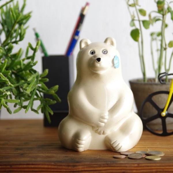 シロクマ 貯金箱 ポーラーベア マネーボックス フィンランド 北欧  Polar Bear Money Box