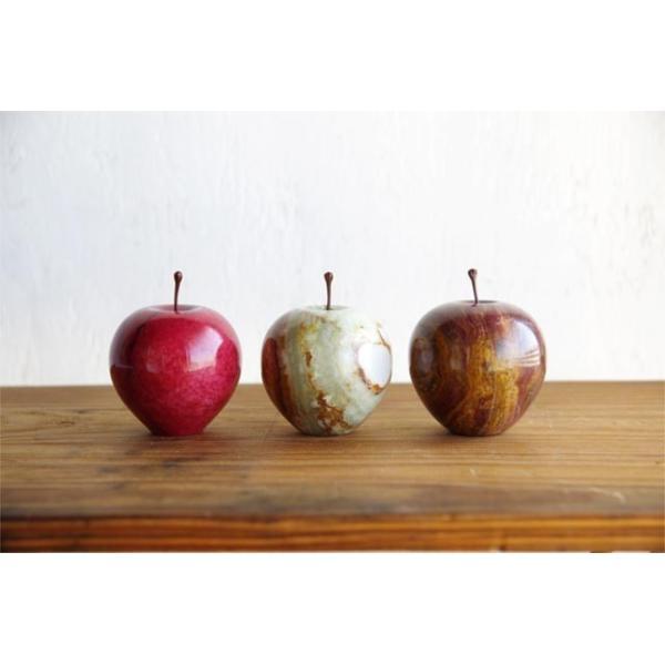 マーブルアップル Marble Apple レッド グリーン ブラウン 大理石 ペーパーウェイト リンゴ 林檎 オブジェ 置き物|play-d-play|06