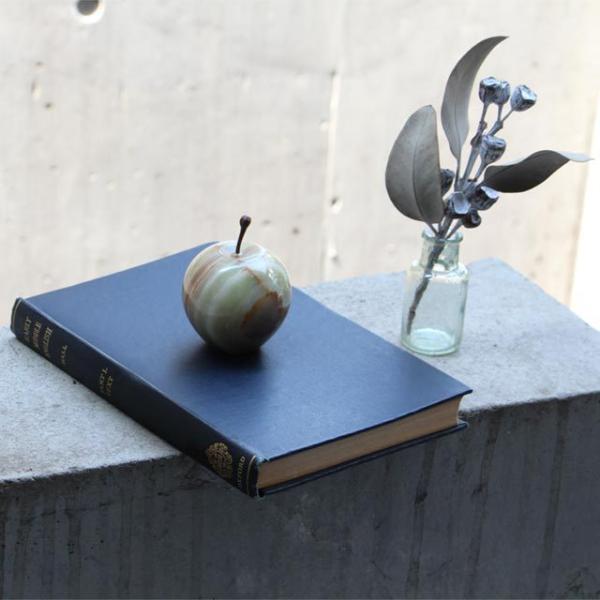 マーブルアップル Marble Apple レッド グリーン ブラウン 大理石 ペーパーウェイト リンゴ 林檎 オブジェ 置き物|play-d-play|08