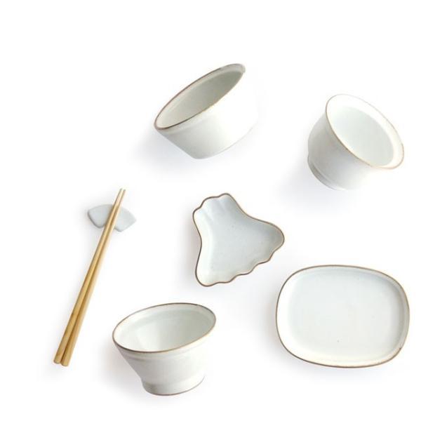 数量限定 アマブロ お食い初め セット GOLD RIM amabro OKUIZOME オクイゾメ 和食器 お祝い 祝い膳 食器 磁器 子供用 ホワイト 白 play-d-play 02