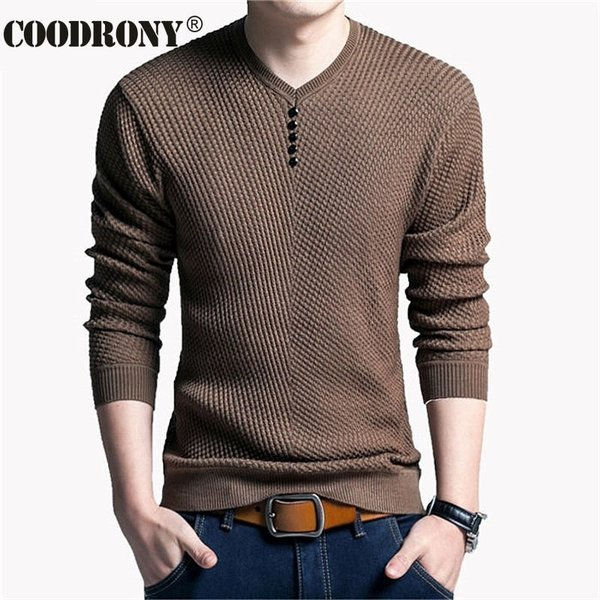YUNY Mens Slim Casual Long Sleeve Jersey Pullover with Pockets White L