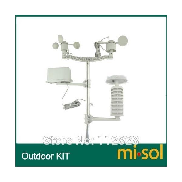 Misol / プロフェッショナル ウェザー ステーション / 風速 風向 雨計 圧力 温度 湿度 uv playone 02