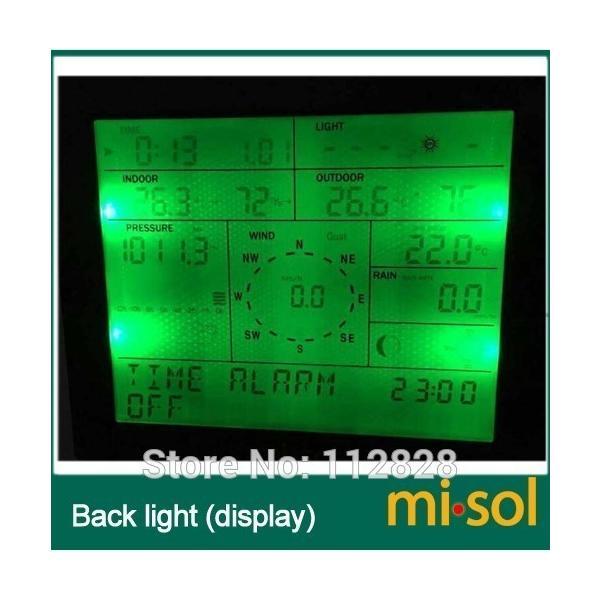Misol / プロフェッショナル ウェザー ステーション / 風速 風向 雨計 圧力 温度 湿度 uv playone 04