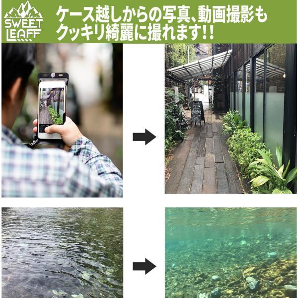 防水ケース スマホ 携帯 iPhone8 iPhoneX iPhoneXS SE スマホケース スマホポーチ  IPX8 指紋認証対応 SweetLeaff|pleasant-japan|12