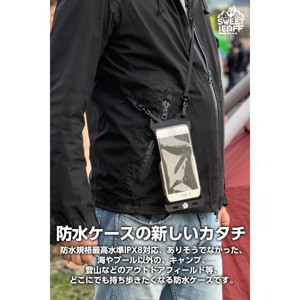 防水ケース iphone スマホ 携帯 iPhone8plus iPhone XS MAX XR X XS スマホケース スマホポーチ IPX8 指紋認証 対応 SweetLeaff|pleasant-japan|10