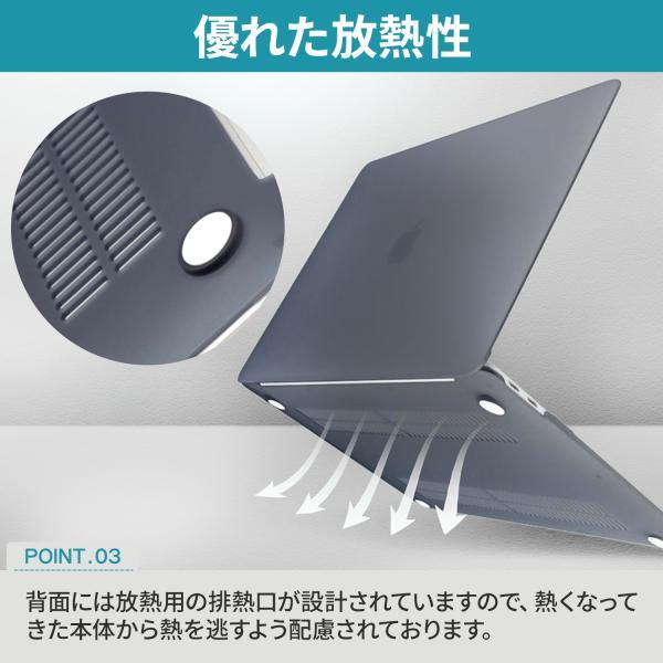 MacBook Air retina 13 インチ 2018 ケース カバー ノートパソコン 衝撃吸収 マット素材|pleasant-japan|05