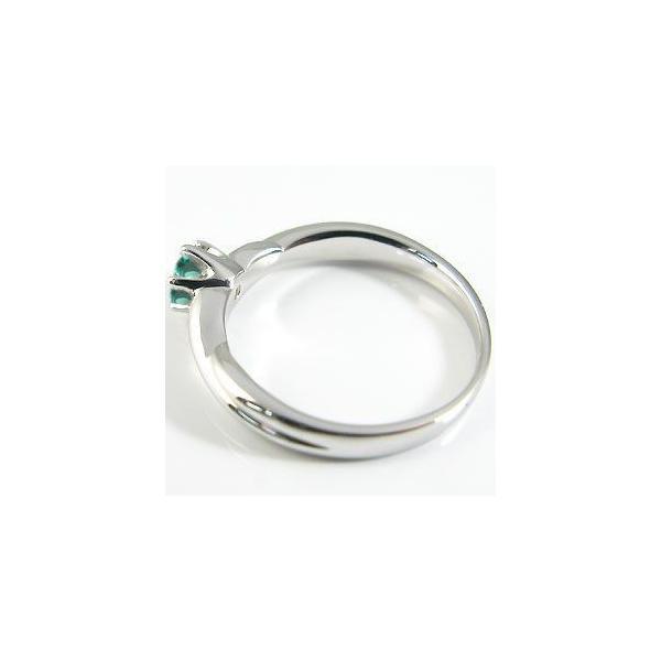 K10 リング エメラルド シンプル 一粒 指輪