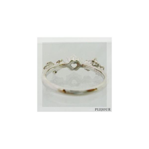 プラチナリング ストロベリークォーツ ダイヤモンド付 指輪