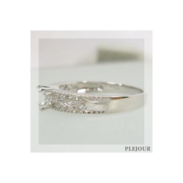 プラチナ ストロベリークォーツ ダイヤモンド リング 指輪