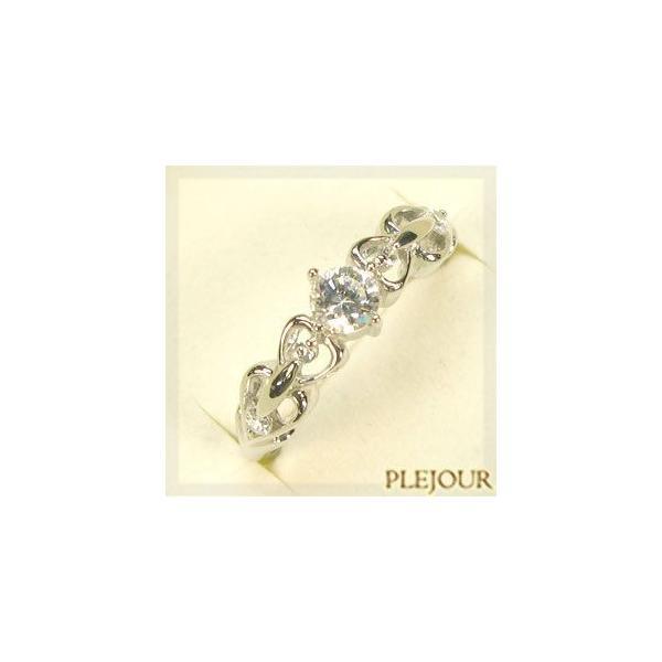 プラチナリング ダイヤモンド 婚約指輪 エンゲージリング