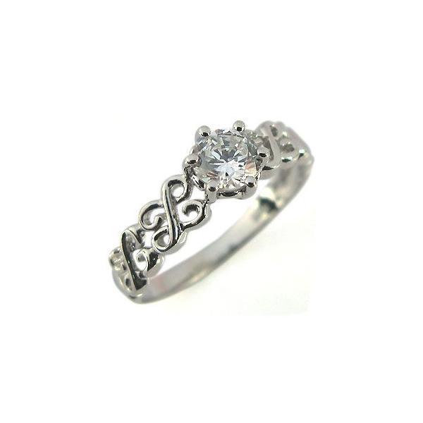 婚約指輪 プラチナリング ダイヤモンド エンゲージリング 鑑定書付き