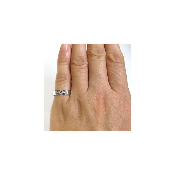 プラチナ タンザナイト リング クロスリング 結婚指輪 ファランジリング