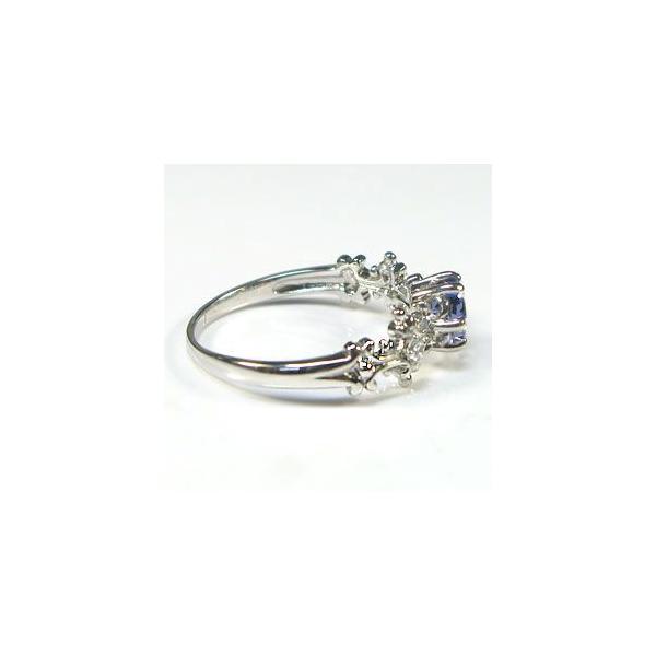 タンザナイト プラチナ 大粒 アンティーク 婚約指輪