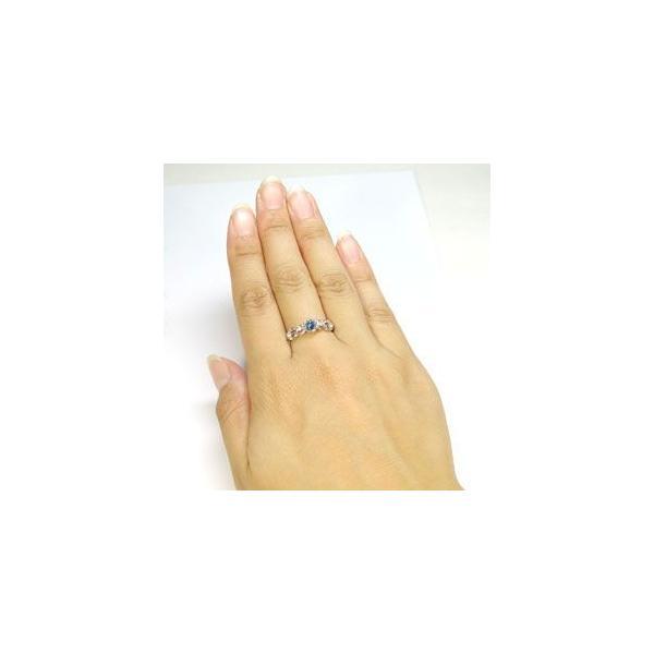 婚約指輪 サンタマリアアクアマリン リング プラチナ 一粒 エンゲージリング