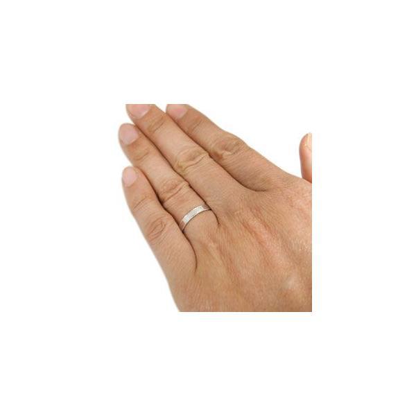 ダイヤモンド ハーフエタニティー 結婚指輪 ペアリング 18金 マリッジリング