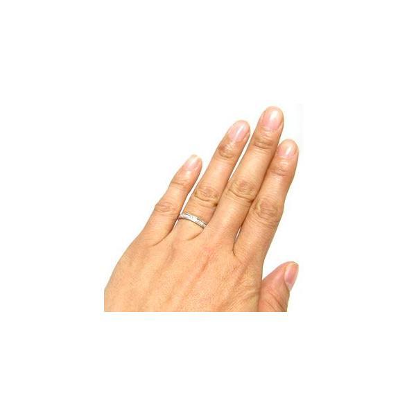 ペアリング ハーフエタニティー マリッジリング  ダイヤモンド 10金 結婚指輪