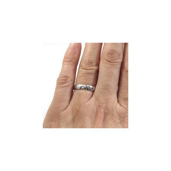 ペアリング ハワイアンジュエリー リング ペリドット プラチナ 指輪
