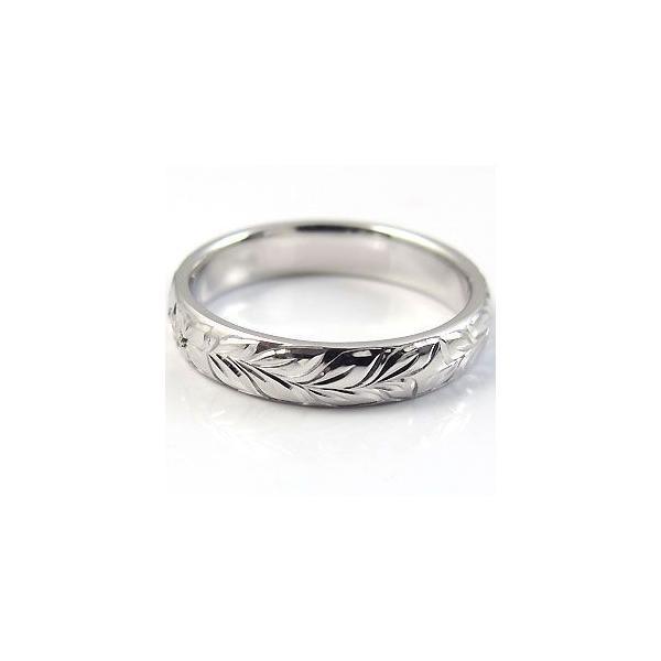 マリッジリング エメラルド プラチナ 結婚指輪 ハワイアンジュエリー リング