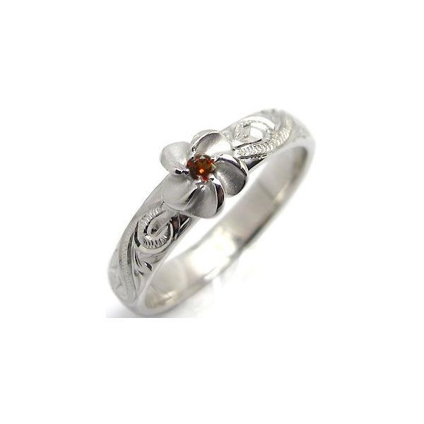 結婚指輪 マリッジリング ガーネット リング k18 ハワイアンジュエリー