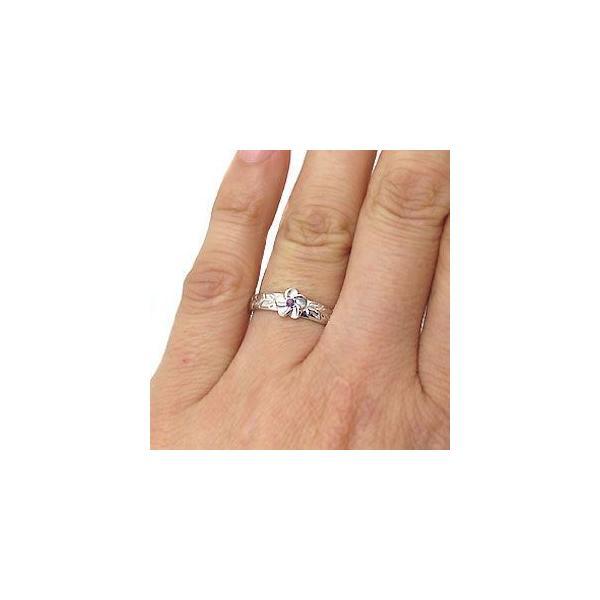 アメジストリング プラチナリング ハワイアンジュエリー リング ピンキーリング 指輪