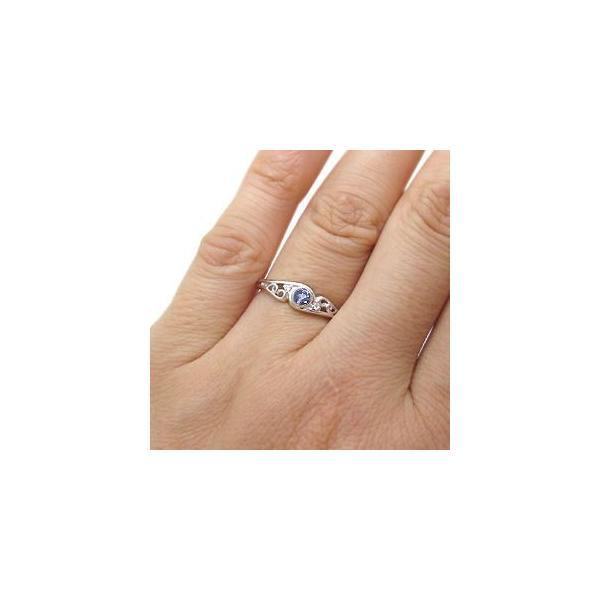 プラチナ タンザナイト リング 一粒 タンザナイトリング 指輪