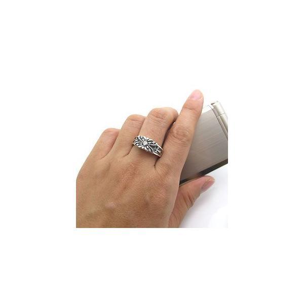 マリッジリング ペアリング シルバー リング 蝶 指輪 クロス リング