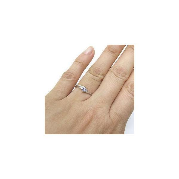 プラチナ タンザナイト 指輪 一粒 タンザナイト リング