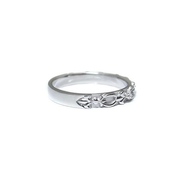 プラチナ・リング・ダイヤモンド・リング・ダイヤ・ユリの紋章・指輪・ファランジリング